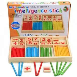 木質算數棒 數學教具 兒童數數棒學習玩具