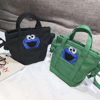 PO sesame street cookie monster mini sling