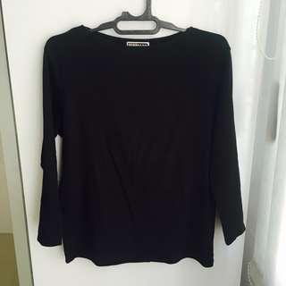 Giordano Black Long Shirt