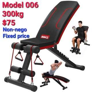 Gym workout exercise bench