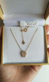 Diamond Cross Pendant Necklace (unique design)