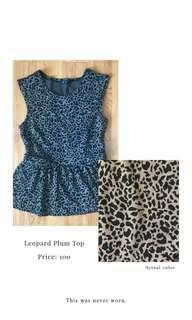 Chic-a-booti Leopard Peplum Top