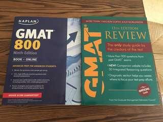 KAPLAN GMAT 800 + Wiley Gmat Review