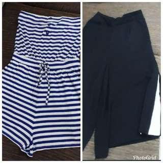 (Offer) Bershka wide leg midi pants & Forever New Romper