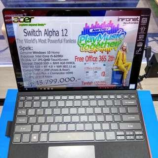 Kredit Acer Switch Alpha 12 core i5-6200U/256SSD Tanpa Kartu kredit