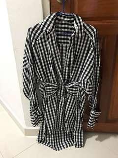 🚚 Zara Long Checks shirt