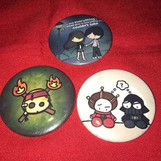 Cartoon buttons