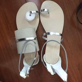 Mel and molly silver sandals