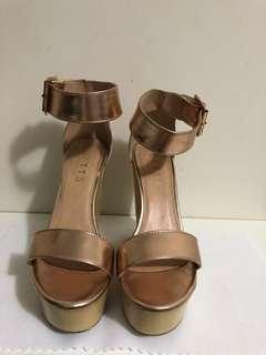 Betts Rose Gold wedges