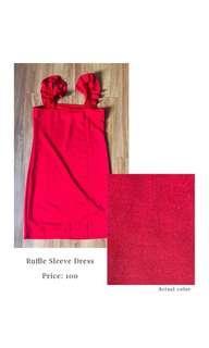 Ruffled Sleeve Dress