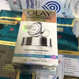 玉蘭油 Olay 微磁導入透白面膜套裝Magnemasks Illuminating Starter Kit 美白 mask