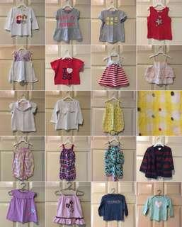 Baby girl dresses / tops / rompers / sets