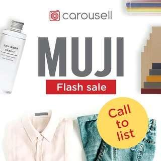 📣 Call to List: Muji Flash Sale