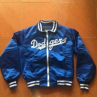 Dodgers baseball jacket blue