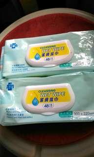 理的潔膚濕纸巾48片装