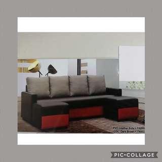 4 Seaters+2 stools sofa