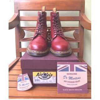 Dr. Martens 1460 Vintage Oxblood Quilon Leather - Made in England