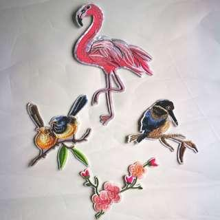 Birds Embroidery Iron On Patches