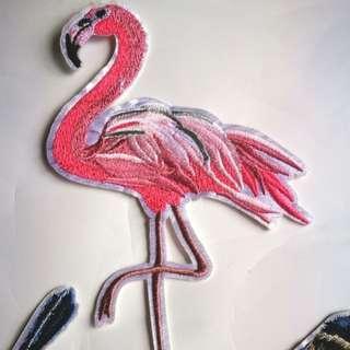 Flamingo Iron on Patches