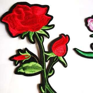 Rose Embroidery Iron on Patches