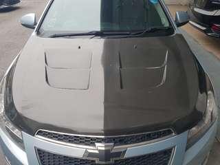 Chevrolet Cruze carbon fibre bonnet