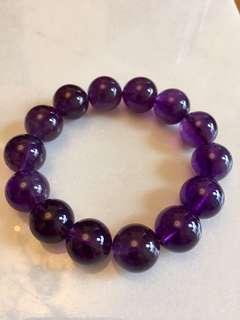 烏拉圭紫水晶手串14mm