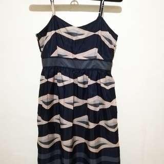 Blue Green Spaghetti Strap Dress