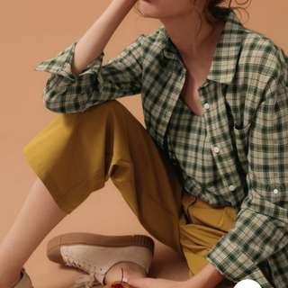 🚚 PAZZO 韓系復古格紋套裝