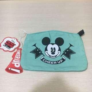 Mickey Minnie 小袋 Cheer Up 雜物袋 (淺綠色)Cosmettics Bag