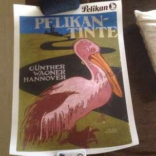 🚚 Pelikan-Tinte Poster