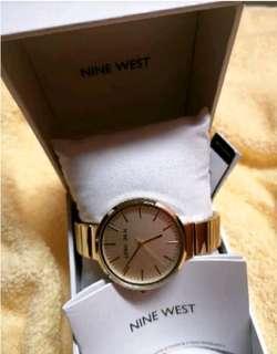 Gold Nine West Watch