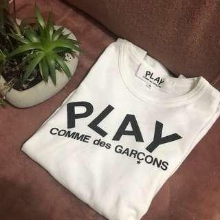 Comme des garçons play shirt Size Small 100% Authentic
