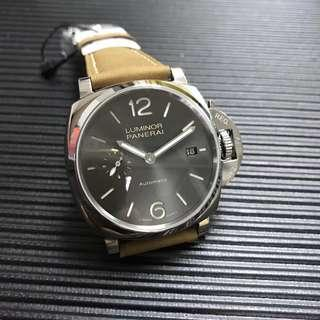 Officine Panerai Luminor Due PAM904 42mm 3 Days Acciaio Stainless Steel Case on Brown Leather Strap