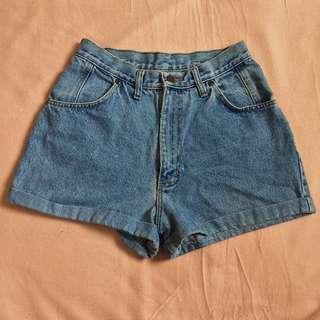 Denim Highwaist Cuffed Shorts