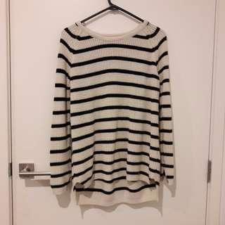 Pull and Bear Knitted Striped Sweater