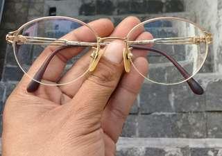Yves Saint Laurent Paris Sunglasses HALF RIM Gold Plated AUTHENTIC
