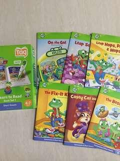 Leapfrog Learn to Read book set 1(short vowels)