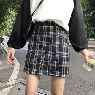 🚚 [PO] Korean style pleated plaid skirt