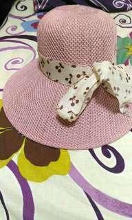 Pink hat 針織帽