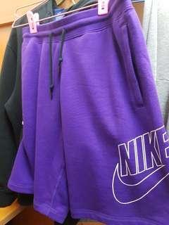 nike 大logo 短綿褲 紫色 稀有 M-L 國外限定款 降價