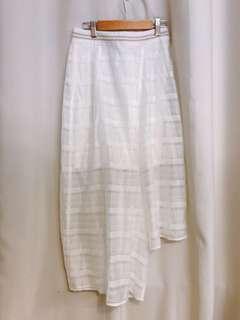 Initial 白色層次裙褲 size 1