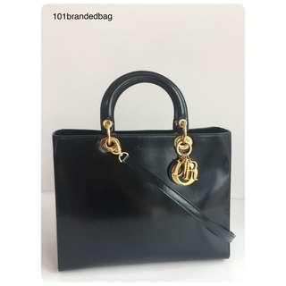Christian Dior Matte Patent Large Lady Dior
