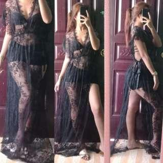🌿Lace cover up