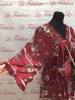 Kimono style romper