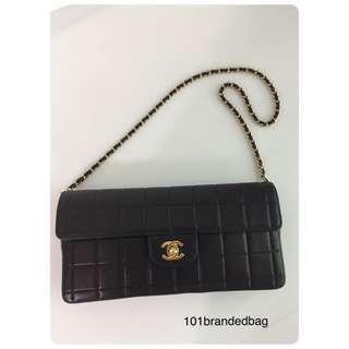 Chanel Chocolate Bar Clutch On Chain
