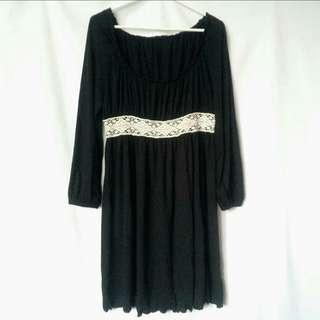 Black Long Sleeves Dress