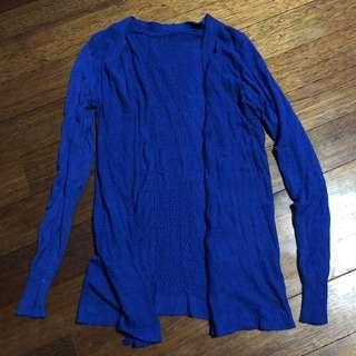 Royal blue knot cardigan