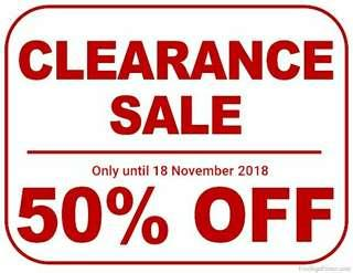 All listings under $100 half price only until 18/11/2018