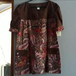 Batik Pendek Coklat
