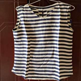 Stripe Blue White Tanktop